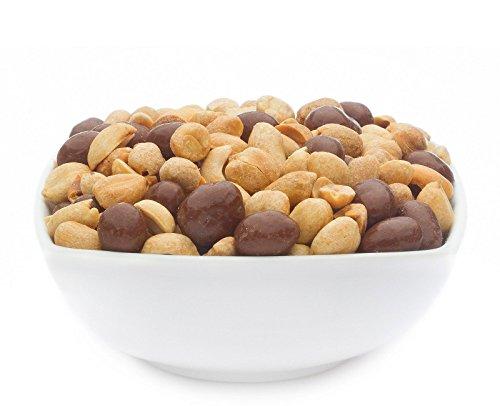 (CrackersCompany 'Energy Mix' (1 x 600g in ZIP Beutel) Schokolierte und gesalzene Erdnüsse - Klassische Erdnüsse mit leichter Salz-Note und mit Schokolade ummantelte Erdnüssen)