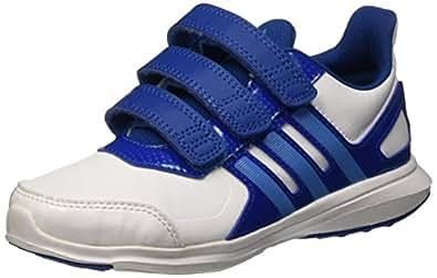 Adidas Jungen Hyperfast 2.0 Cf K Halbschuhe, Mehrfarbig (Ftwwht/Supblu/Eqtblu), 28 EU