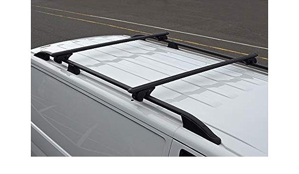 Alvm Parts Zubehör Schwarze Querstangen Für Dachreling Passend Für Caddy 2016 100 Kg Abschließbar Auto