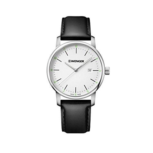 WENGER Reloj Analogico para Unisex de Cuarzo con Correa en Cuero Urban Classic NO.: 01.1741.109