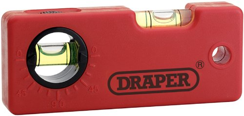 Draper 44444 Mini-Wasserwaage mit Winkelfunktion 100 mm