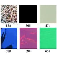 alallti 1pcs cartuccia Foil Nail decorazioni stellato adesivi per unghie, N. 55–60(130x 4,5x 0.1cm, colori assortiti)