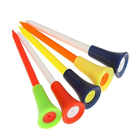 feiliandajj 30-Multi Farbe Kunststoff Golf Tees 83mm langlebiges Kissen Gummi Top Golf Werkzeug Club Training Praxis