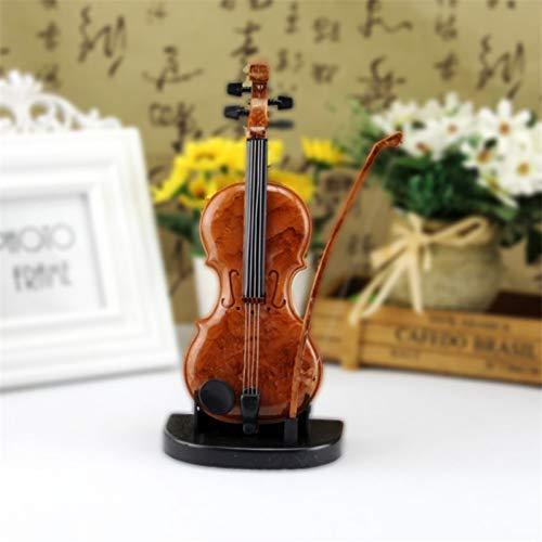 LAIMAIBA Adornos De Caja De Música De Violín Dibujados A Mano Mini Caja De Música Linda Regalo De Cumpleaños Violín Artesanías En Miniatura Decoración Del Hogar