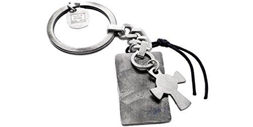 Lui de Clio Schlüsselanhänger, Leder und Metall