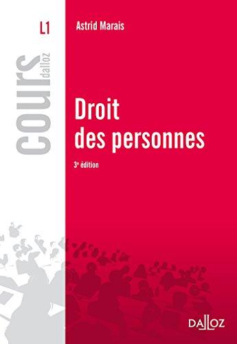 Droit des personnes - 3e éd. par Astrid Marais