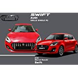 Autopearl - Car Chrome Front Audi Grill (Witout S Logo) for - Maruti Suzuki Swift 2018