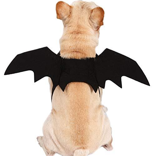 Bulldogge Kostüm Halloween Französische - Homeit Halloween pet lustige Schwarze fledermausflügel Cosplay kostüm für kleine mittel große Hund Katze kätzchen welpen, größe s bis l