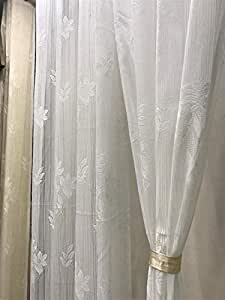 SC's fabulous Home Heavy Tissue Net Door Curtains 1Pc -White - 7ft