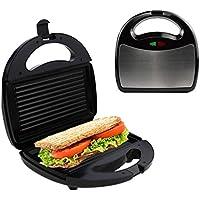 Multifuncional Familia Sandwichera, Cocina Forma de raya Acero inoxidable Tostadora Sandwichera, 750W Calefacción de