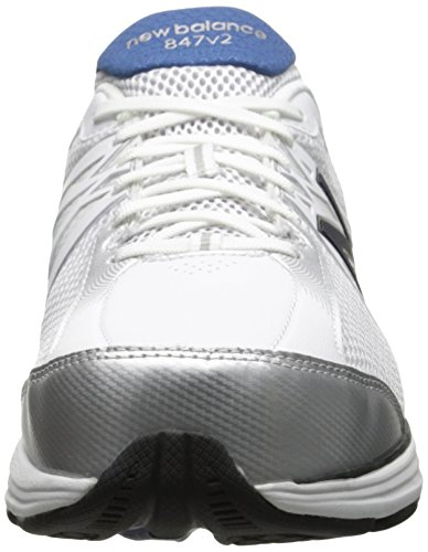 New Balance Men's MW847 Version 2 Walking Shoe White/Navy