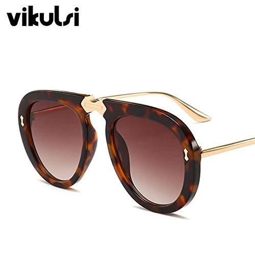 Sonnenbrillen Brillen Unisex Einfache Designer Sonnenbrille Frauen 2019 Neue Retro Klar Pilot Sonnenbrille Für Weibliche Uv400 Oculos De Sol Leopard Braun