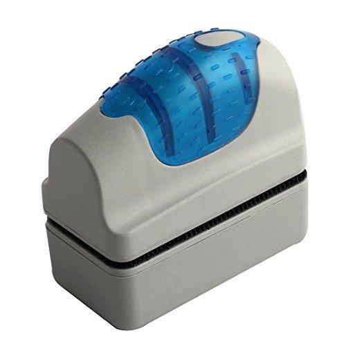 DealMux Aquarium Glaswaschreinigungsmagnetbürste Pad Blau Grau -
