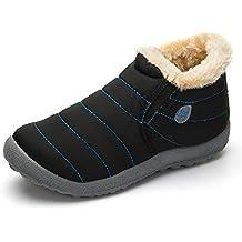 Botas Hombre Mujer Invierno Impermeables Zapatos Nieve Botines Fur Calientes Cortas Tobillo Casa Casual Hombres Zapatillas