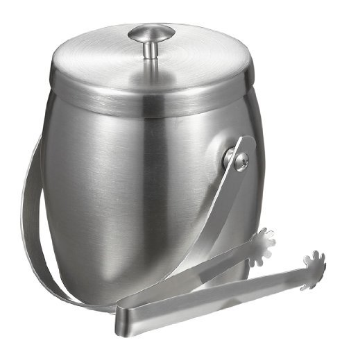 Visol Symon Stainless Steel Double Wall Ice Bucket with Tongs by Visol Products Stainless Steel Double Wall Ice