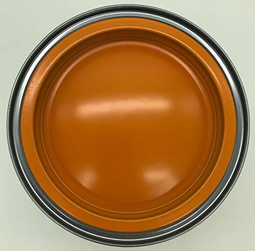 PRAXIS Buntlack Alkydharzbasis Seidenglanz doppeldeckend für Innen/Außen 1,5L (Leuchtend Orange 2500) -