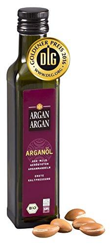ARGANARGAN Bio-Arganöl geröstet 250ml, kaltgepresst DLG-GOLD prämiert, vegan, Gourmet-Speiseöl