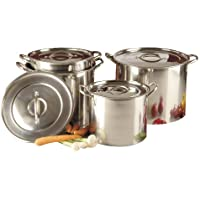 Buckingham Set of 4 Stock Pots with Stainless Steel Lid, 20, 23, 26 and 28 cm