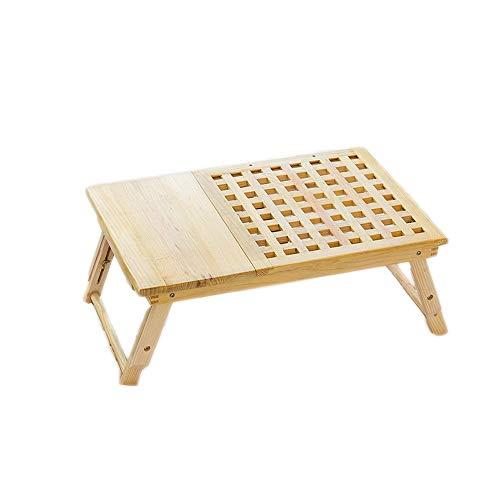 Fengbingl-hm Laptop Bett Tisch Faltbare Lap Table Bettablage, TV Tray Stehtisch Bambus Einstellbares Frühstück Tablett Schreiben Gaming für Couchsofaboden Kids (Farbe : Natural, Größe : 55X35X29cm) (Tray Kinder-tv-lap)