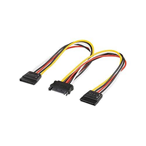 Goobay 95114 PC Y Stromkabel / Stromadapter / SATA Splitter; SATA 1x Buchse zu 2x Stecker 2x SATA-Standard Stecker > SATA Standard Buchse