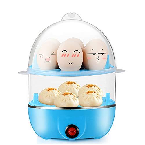 LLYY Elektrischer Eierkocher,Eier Kocher,Egg Cooker, für 14 Eier Multifunktional Doppelschicht Egg Cooker