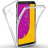New&Teck Coque 360 Degré Samsung Galaxy J6 2018 – Protection intégrale Avant + Arrière en Rigide, Housse Etui Tactile 360 degré – Antichoc, Transparent J6 2018