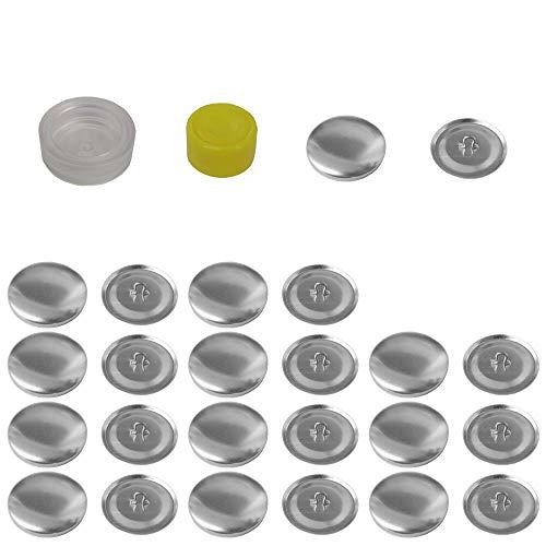 Mehrondo 12 Stück Überziehbare Knöpfe 22mm Durchmesser mit Druckverschluss