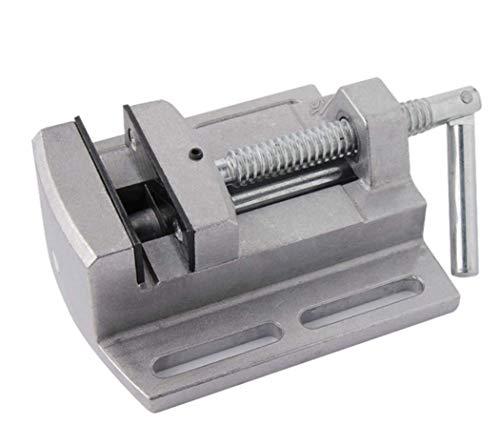 Bench Track (Hycy 2,5 '' Flachzange Vise Bohrmaschine Stand Plat Nose Zangen Doppel Track Bench Drill Worktable Werkzeuge)