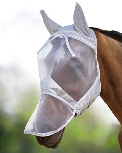Harrison Howard CareMaster Maschera Anti-Mosche per Cavallo UV Protezione Pieno Volto...