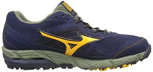 Mizuno Wave Kien G-TX, Chaussures de Running Homme Multicolore (Peacoat/goldfusion/deeplichengreen)