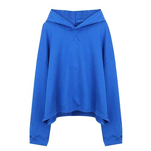 shirt, langärmelig, lockerer Druck - blau - Einheitsgröße ()