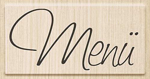 Knorr Prandell 211800500 Knorr prandell 211800500 Stempel aus Holz (Menü) Motivgröße 7,5 x 3,5 cm, Motiv: Menü