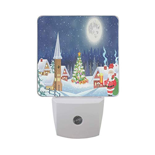 s Tree and Santa Claus Led Light Lamp for Hallway, Kitchen, Bathroom, Bedroom, Stairs, DaylightWhite, Bedroom, Compact ()
