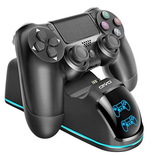 Oivo Ladestation für PS4-Controller, Dual-Shock, 4 Controller, Schnellladegerät, Docking-Station, LED-Band, Kupfer-Anschluss - 7,6 m Kabel im Lieferumfang enthalten -