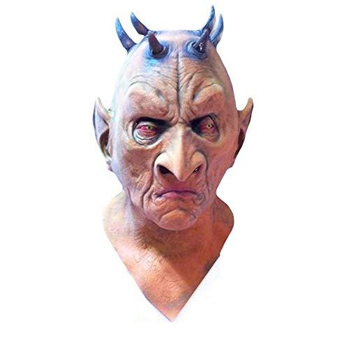 NightGhost Hexe Maske, Scary Kostüm Spielt Maskerade Helm, Halloween, Horror Perücke Film Und Fernsehen Arbeit Make-Up Requisiten, Horror Cosplay Latex - Zombie Wanderer Kostüm