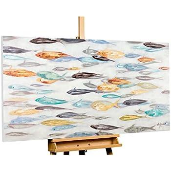 Amazon.de: KunstLoft® Acryl Gemälde \'Im Sog des Fischschwarms ...
