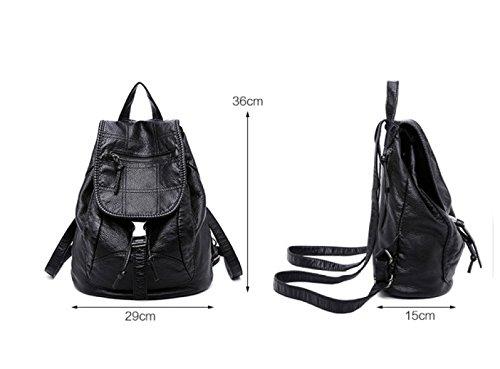 LAIDAYE Dual-Use-Mode Beiläufige Schulterbeutel Black