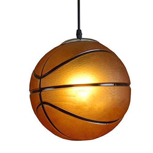 Art-deco-glas-kronleuchter (Moderne Kreative Einstellbare Basketball / Fußball Pendelleuchten, Glas Runde American Home Kronleuchter Bar Pendelleuchten Art Deco Decke Haning Lampe Hängeleuchten Beleuchtung E27 ( Color : B ))
