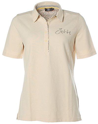 Jette Damen Poloshirt Polo Shirt Glitzer Beige