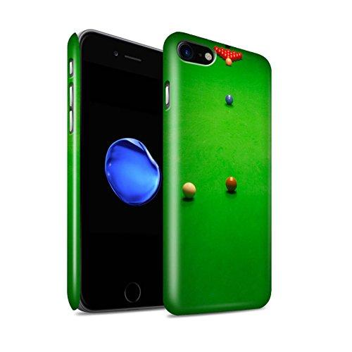 STUFF4 Glanz Snap-On Hülle / Case für Apple iPhone 8 / Rote Kugel/Rack Muster / Snooker Kollektion Baulk