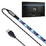 USB LED TV Hintergrundbeleuchtung,NuoYo RGB 27 LED Lichtleiste,Dekoration,Beleuchtung bis zu 36-Zoll-Flachbild-TV,LED-Streifen-Beleuchtung,IP65 Wasserdicht (RGB)