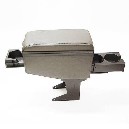 Autohobby 42007 Mittelarmlehne Armlehne Universell Konsole Mittelkonsole Kunstleder Aufbewahrungsbox Getränkehalter Grau (Mittelkonsole Integra)