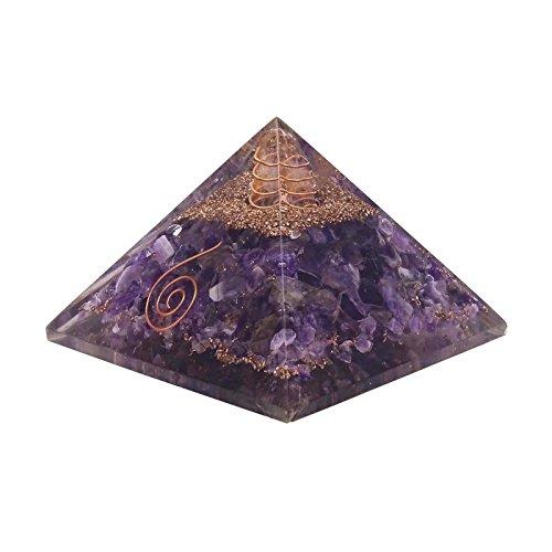 Armonizzare orgon ametista piramide energia generator reiki orgonit cristallo chakra guarigione, pietra, lilla, red geschenk pouch- mit harmonize logo