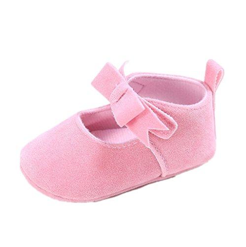 Baby Schuhe, Auxma Baby-Mädchen-weiche Sole-Kleinkind-Baumwollkrippe-Schuhe,Erste Wanderschuhe Prewalker (13cm(12-18M), Heißes Rosa) Rosa
