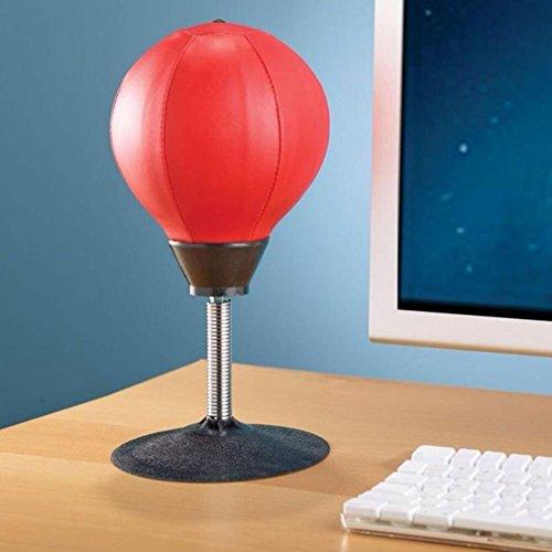 Jixing Desktop Schlagball Stress Buster Boxball Speed   Boxsack, rot, 18cm