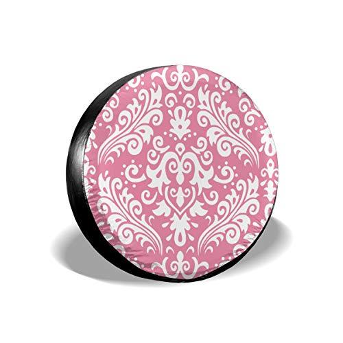 Sparkle Medium Damask Hot Pink Auto Auto Reifenschutz Rad Reifenschutz Diy Zubehör Hot Pink Plaid Design
