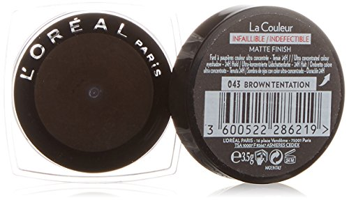 L'Oreal Color Infallible Eyeshadow 3.5g-43 Brown Temptation