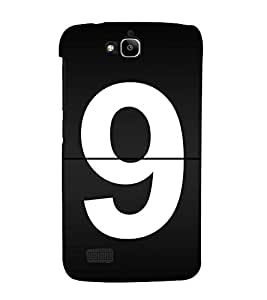 No 9 3D Hard Polycarbonate Designer Back Case Cover for Huawei Honor Holly