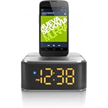 Philips AS130/12 - Altavoz con puerto dock para Android (6 W, Bluetooth, USB), plata