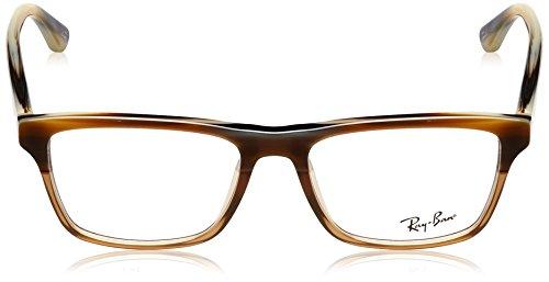 Ray Ban Optical Montures de lunettes RX5279 Pour Homme Shiny Black, 53mm 5542: Brown Horn / Gradient Transparent Beige